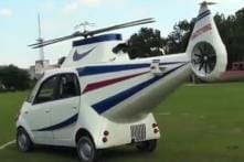 Tata Nano Turned into Helicopter by Bihar Man after He Fails to Become a Pilot - Watch Video