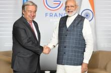 Amid Kashmir Tension, PM Modi Holds 'Fruitful Discussions' with UN Chief on Sidelines of G7 Summit