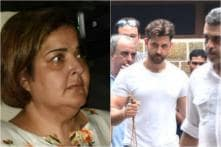 Hrithik's Sister Sunaina Visits Actor's Residence After Grandfather's Death