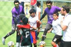 PICS: Bollywood Livewire Ranveer Singh Plays Soccer With Kids