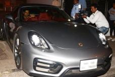Farhan Akhtar Goes For a Spin in His Porsche 911 Cayman GTS