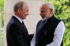 PICS: PM Narendra Modi meets Russian President Vladimir Putin