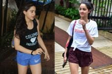 Star Kids Sara Ali Khan, Ananya Pandey Spotted Post Their Workout