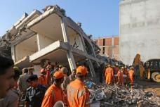 PHOTOS: Building Collapses in Greater Noida's Shah Beri Village