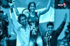 Watch: Vinesh Phogat Wins Gold in Wrestling