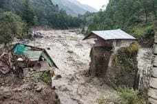 Heavy Rains Trigger Flash Floods in Himachal Pradesh; See Pictures