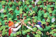Independence Day 2018: PM Modi Meets School Kids at Red Fort