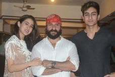 Saif Ali Khan Celebrates Birthday with Sara & Ibrahim Ali Khan