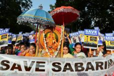 BJP Holds Massive Rally To Protest Against Women's Entry in Sabarimala