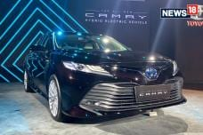 New Toyota Camry Hybrid Premium Sedan Launched in India - Detailed Image Gallery