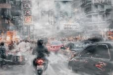 What If You Can See Car Pollution - An Artist's Rendering of Delhi, New York and More Cities