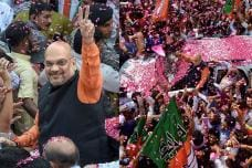 BJP Chief Amit Shah Gets Grand Welcome at Party Headquarters