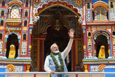 Famous Personalities at Shrines: PM Modi Prays at Badrinath Temple