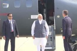 On Macron's Personal Invitation, PM Modi Arrives in France; May Discuss Kashmir Issue With Trump Today