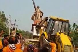 Mob Brings Down Lenin Statue in Tripura After Left Loss, Governor Justifies it