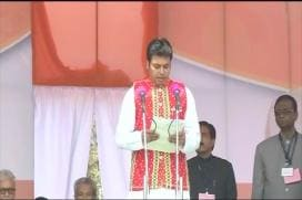 Biplab Kumar Deb Sworn-in as Tripura Chief Minister
