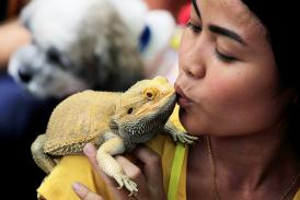 People Pictured with Their Most Unusual Pets