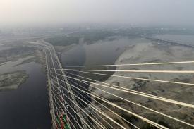 Signature Bridge: India's First Asymmetrical Cable-Stayed Bridge