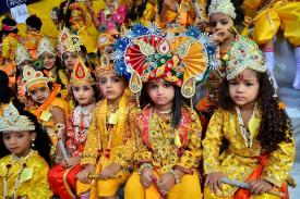 Happy Janmashtami: Cute Kids Dressed as Radha, Krishna & Meera