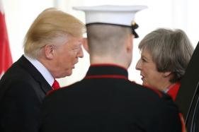 Donald Trump, After Questioning May's Brexit Plan, Arrives in 'Hot Spot' Britain