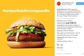 McDonald's Launches its First-ever Vegan Sandwich in Finland