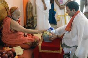 Congress President Rahul Gandhi visits Sringeri Sharadamba Temple