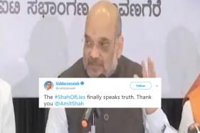 In a Major Gaffe, Amit Shah Calls BJP's Yeddyurappa 'Most Corrupt'