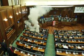 Opposition Shells Kosovo Parliament With Tear Gas, Still Fails to Stop Key Border Deal