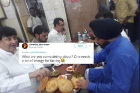 'Feast Before Fast': Photo of Congress Leaders Hogging Chole Bhature Goes Viral