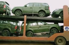 Matte Green Tata Safari Storme for the Indian Army Delivery Begins