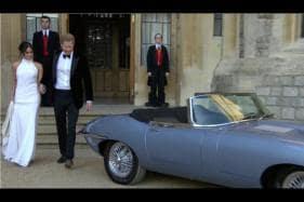 Royal Wedding: Prince Harry and Meghan Markle Drives Jaguar E-Type Zero to Reception [Video]