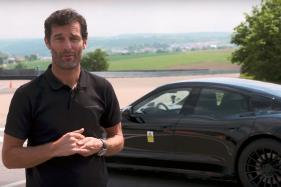 Former F1 Driver Mark Webber Drives the Mission E at Porsche's Test Track in Weissach - Watch Video