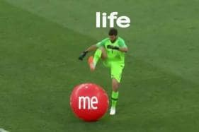 Brazilian Goalkeeper Alisson Becker Popping a Giant Inflatable Ball Has Turned into Relatable Life Memes