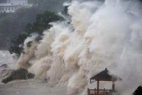 Typhoon Maria Lashes Taiwan Before Making Landfall in China