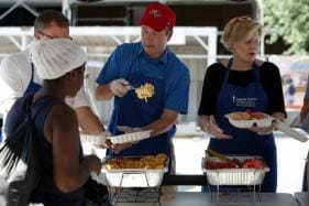 Trump's Supreme Court Nominee Dishes Out Mac 'n' Cheese to the Homeless