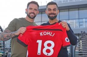 Virat Kohli Receives Customized Jersey From Southampton FC