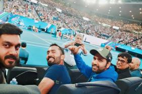 Rohit and Karthik Enjoy Day Off Watching Nadal Play at Australian Open