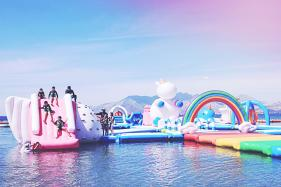Inflatable, Floating Island Includes Unicorns, Dinosaurs, And Millennials; See Pics