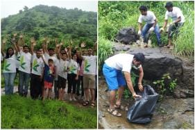 This Independence Day, Some Maharashtrians Showed Their Patriotism By Cleaning Up a Waterfall