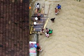 Chilling Photos: Aerial View of Flood Hit Areas in Kerala
