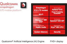 Qualcomm Snapdragon 670 Launched; Relies Heavily on AI