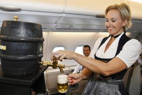 High Flying Lufthansa Celebrates Oktoberfest with In-flight Beer Kegs