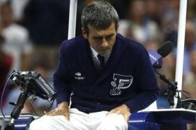 Chair Umpire Carlos Ramos Hands Marin Cilic Warning for Slamming Racquet