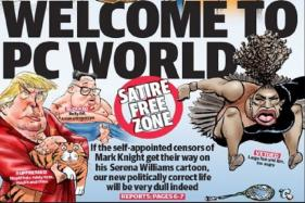 Defiant Australian Paper Reprints 'Racist' Serena Williams Cartoon, This Time on Front Page
