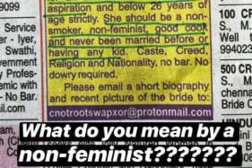 A Woman Got Violent Rape Threats For Responding to 'Non-Feminist' Matrimonial Ad in Newspaper