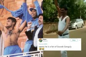 BJP Candidate Celebrates Win in Karnataka ULB Polls in Total Sourav Ganguly Style