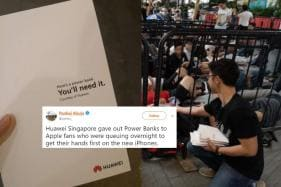 Huawei Trolls Apple By Distributing Power Banks to People Queuing Up to Buy iPhones