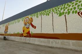 An Underpass in Noida Gets a Colorful Mythical Makeover Through Art