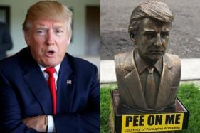 Tiny 'Pee on Me' Donald Trump Statues in New York Invite Dogs to Urinate on Them