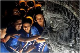 In Kolkata, a Durga Puja Pandal Crafted Out of Nails and Threads to Make it 'Visible' to the Blind